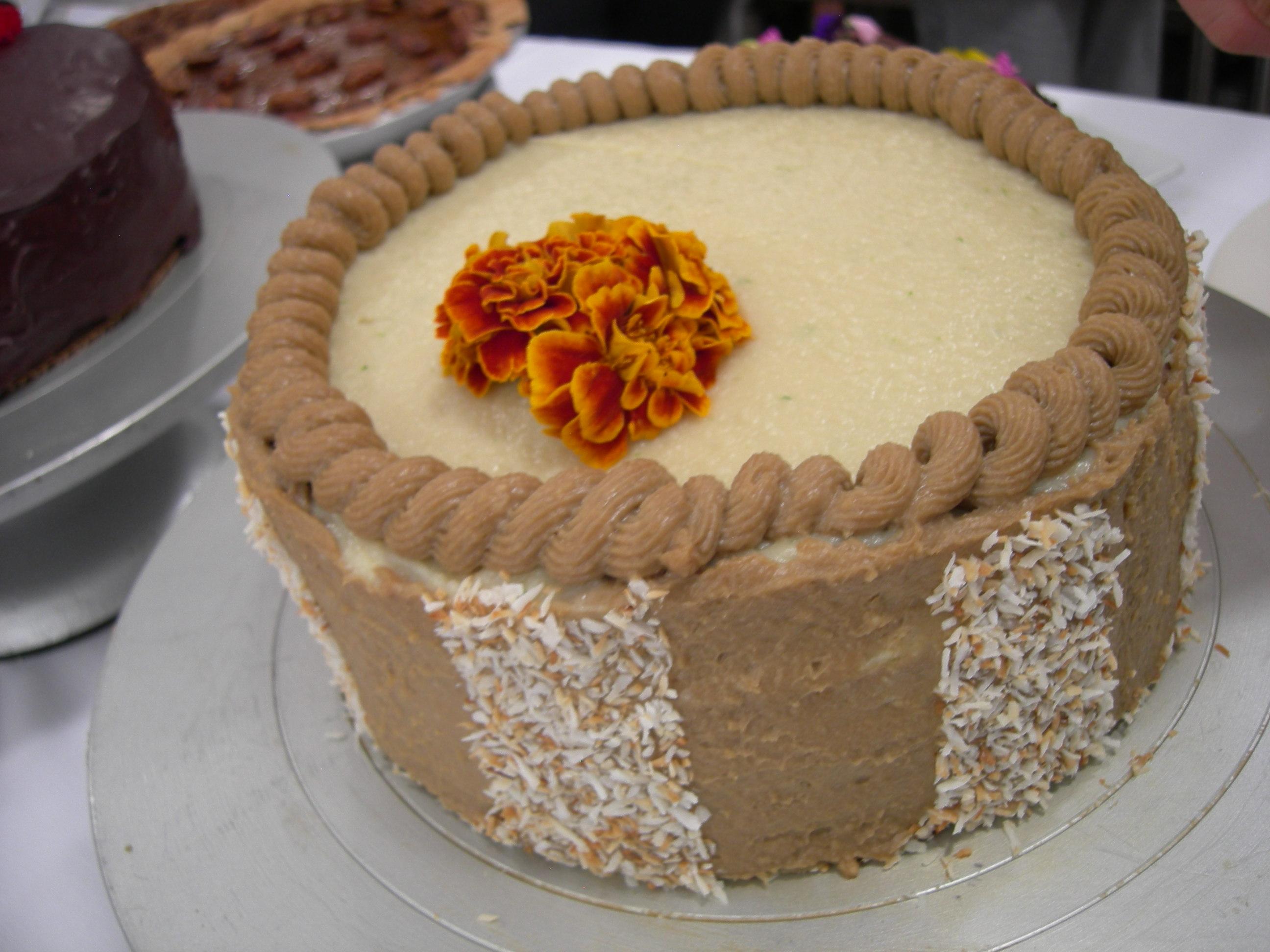 Versatile Vanilla Cake with Coconut Pecan Filling