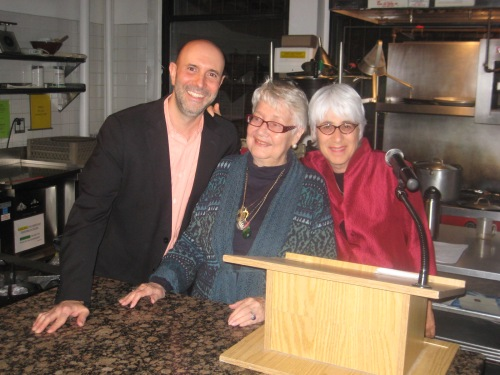 Lorna at the dedication with NGI Founder Annemarie Colbin and Instructor Jay Weinstein